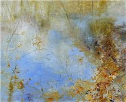 pond on the edge by kathleen earthrowl