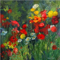 field of poppies by nancy paris pruden