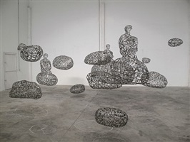 talking continents (installation view) by jaume plensa