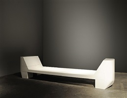 2 prong bench (white marble) by rick owens