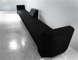 3 prong bench (black marble) by rick owens
