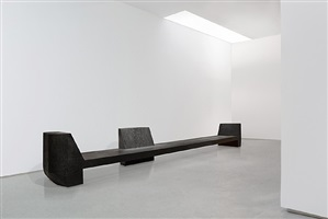 3 prong bench (black plywood) by rick owens