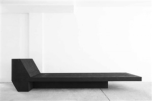 daybed (black plywood) by rick owens
