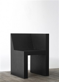 half box (black plywood) by rick owens