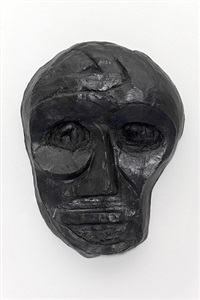 bronze portrait (midnight mask) by thomas houseago