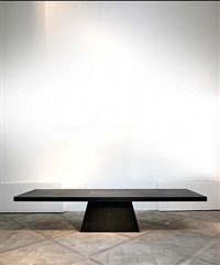 plug table (black plywood) by rick owens
