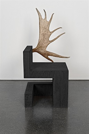 stag chair right (black plywood) by rick owens