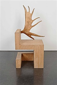 stag chair right (natural plywood) by rick owens