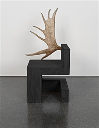 stag chair left (black plywood) by rick owens