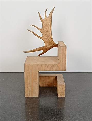 stag chair left (natural plywood) by rick owens