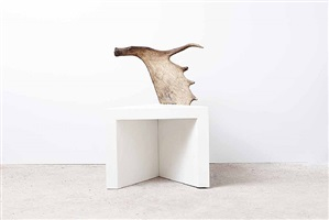 stag stool (white marble) by rick owens