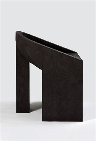 swan (black plywood) by rick owens