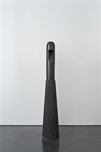 totem black marble and concrete lamp by rick owens