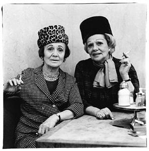 two ladies at the automat, n.y.c. 1966 by diane arbus