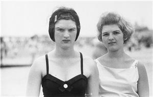 two girls on the beach, coney island, n.y. 1958 by diane arbus