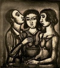 augures (from the miserere series) by georges rouault