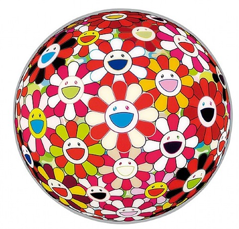 flowerball goldfish colors (3d) by takashi murakami
