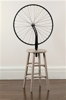 marcel duchamp, 'bicycle wheel', 1913-1964 by richard pettibone