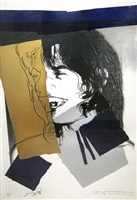 mick jagger ii, 142 by andy warhol