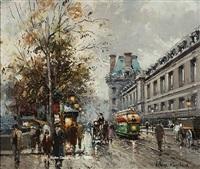 quai du louvre by antoine blanchard