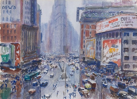 rain on broadway by john whorf
