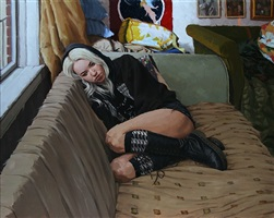 on the couch (sold) by vincent giarrano