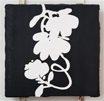 black and white lantern flowers dec 5 2012 by donald sultan