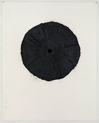 black trumpet (grey) aug 14 2012 by donald sultan