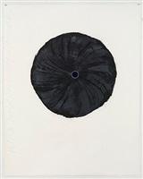 black trumpet (light blue) aug 7 2012 by donald sultan