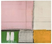 pink square by alfred leslie