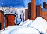 study in watercolor #43, tiffany, nj by oscar florianus bluemner