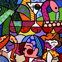 news cafe by romero britto