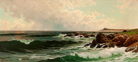 along the coast of maine by alfred thompson bricher