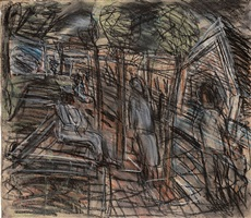 a street in willesden no. 1 by leon kossoff