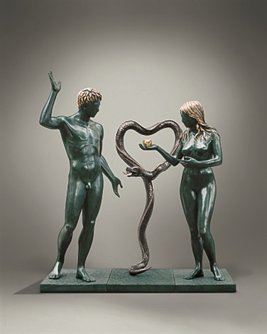 adam and eve (museum size sculpture) by salvador dalí