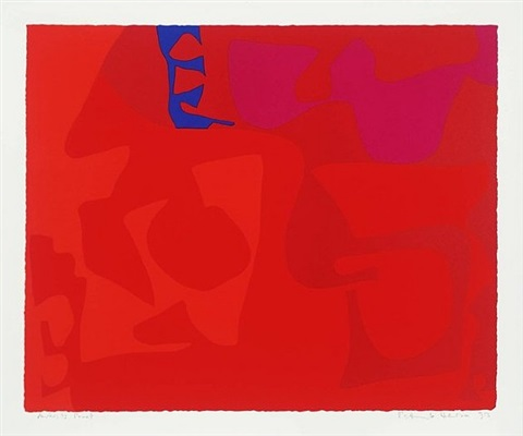 small red: january 1973 by patrick heron