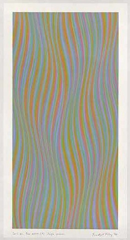 series 41 blue added (b) single reverse by bridget riley