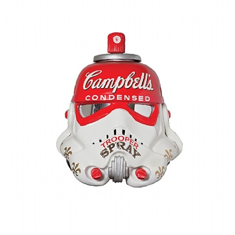 campbell's condensed trooper spray by mr. brainwash