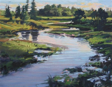 hicks creek july evening by nina jerome
