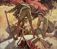 he lay face down by dean cornwell