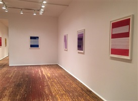 in and out of the light new paintings on paper<br />installation view - front room by steve riedell