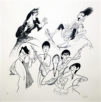 sensations (sinatra, elvis, beatles. streisand) by albert hirschfeld