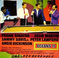 the rat pack - ocean's 11 by steve kaufman