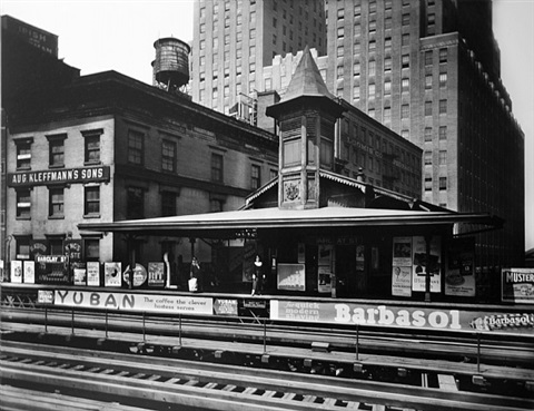 barclay street station by berenice abbott