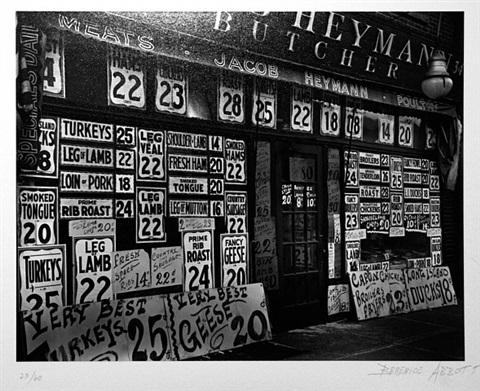 butcher shop by berenice abbott
