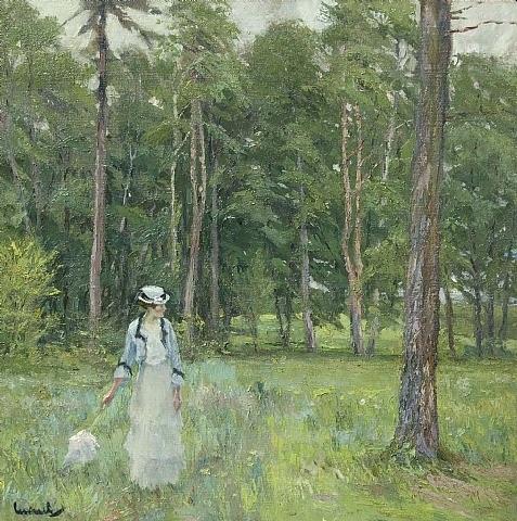 jeune femme dans le parc by edward cucuel
