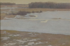 winter marshlands by charles emile heil