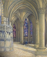 interior of chartres cathedral by pieter j l van veen