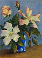 still life of dogwood by pieter j l van veen