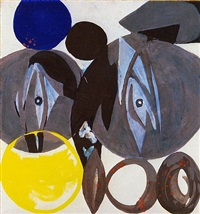 spindeln in grau by ernst wilhelm nay